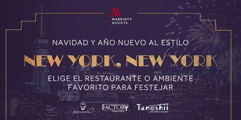 Cena de navidad en Factory - Hotel Marriott Bogotá
