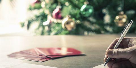 Tarjeta de deseos y propósito para año nuevo