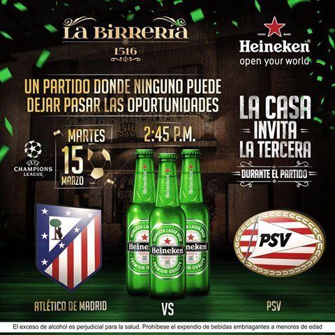 ATLÉTICO DE MADRID VS  PSV