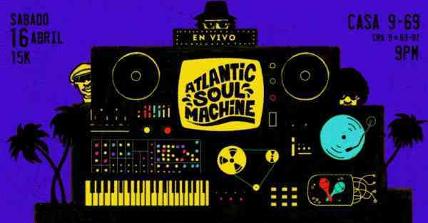 Atlantic Soul Machine en Vivo!  Dj Mute & Dj Bleepolar