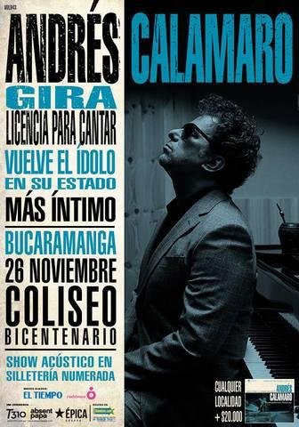 Andrés Calamaro gira licencia para cantar