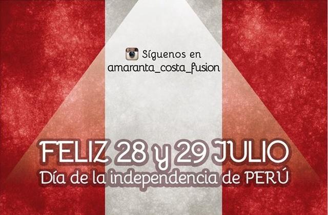Dìa de la independencia de  Perù