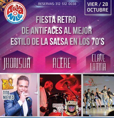 Fiesta retro de antifaces Aguanilé