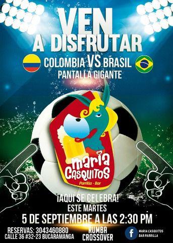 Colombia Vs Brasil en Maria Casquitos