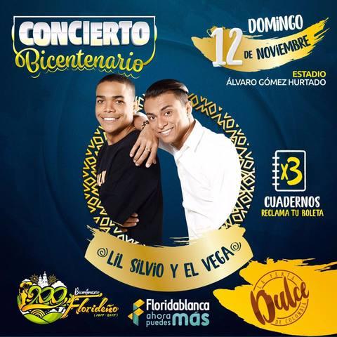 Lil Silvio y El Vega en Feria Floridablanca
