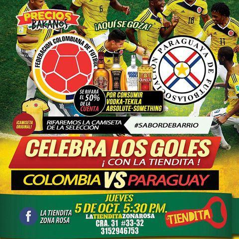 Colombia Vs Paraguay en La Tiendita