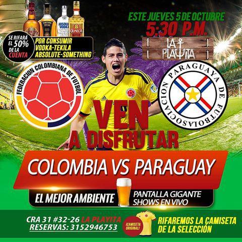Colombia Vs Paraguay en La Playita