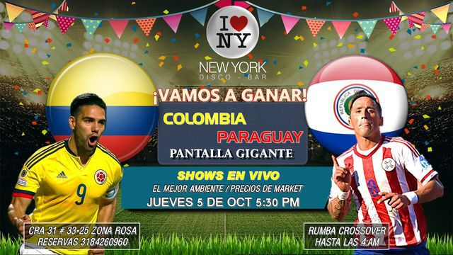 Colombia Vs Paraguay en New York