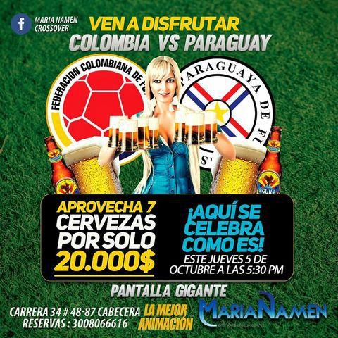 Colombia Vs Paraguay en Marianamen