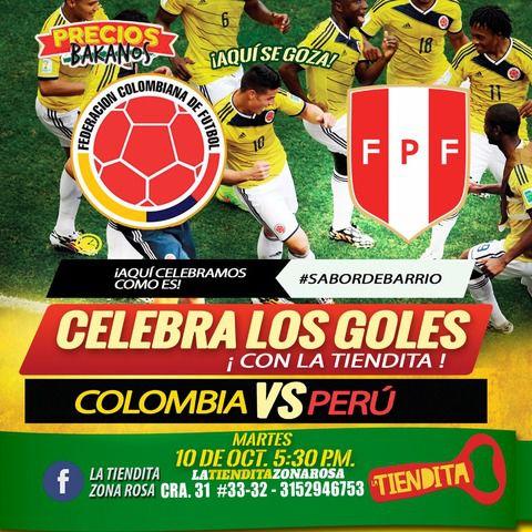 Colombia Vs Perú en La Tiendita