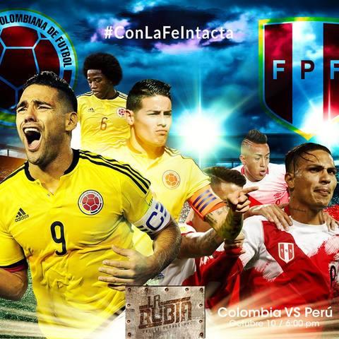 Colombia Vs Perú en La Rubia