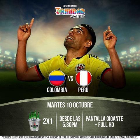 Colombia Vs Perú en Trinidad Casa Latina