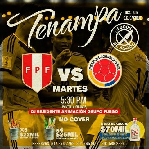Colombia Vs Perú en Tenampa
