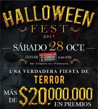 Más de 20' Millones en premios tendrá el Halloween Fest en Bucaramanga