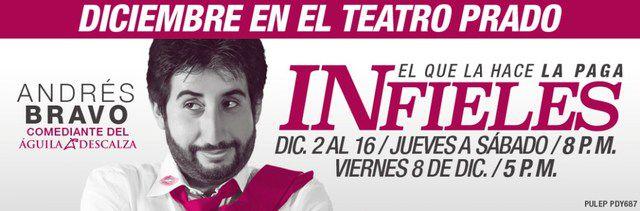 Andrés Bravo despide el 2017 con Infieles