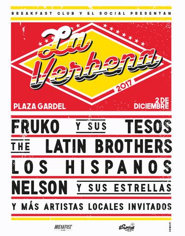 La Verbena 2017 con Fruko y sus Tesos, Latin Brothers y más