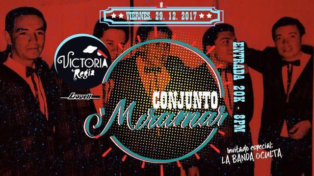 Conjunto Miramar y La Banda Oculta  ¡Fiesta de Fin de Año!