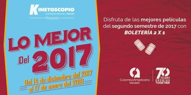 Lo mejor del 2017 en las salas del Colombo Americano de Medellín.