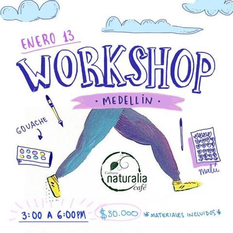 Workshop sobre ilustración con témperas (gouache) + tinta