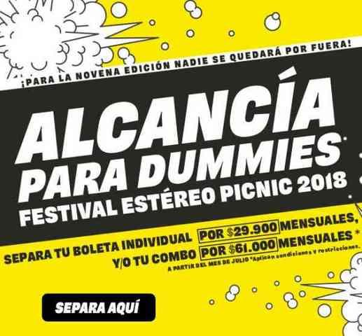 ALCANCÍA PARA DUMMIES ESTÉREO PICNIC
