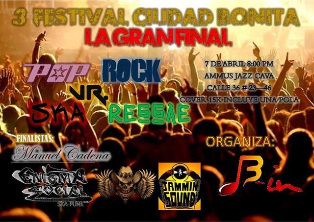 3° Festival de Música Ciudad Bonita La gran final
