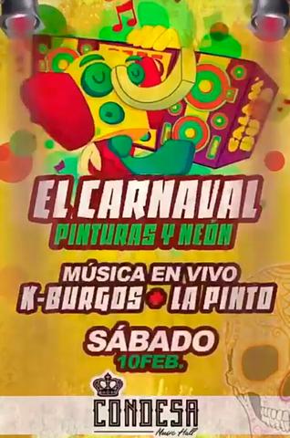carnaval de pinturas y neón en la Condesa