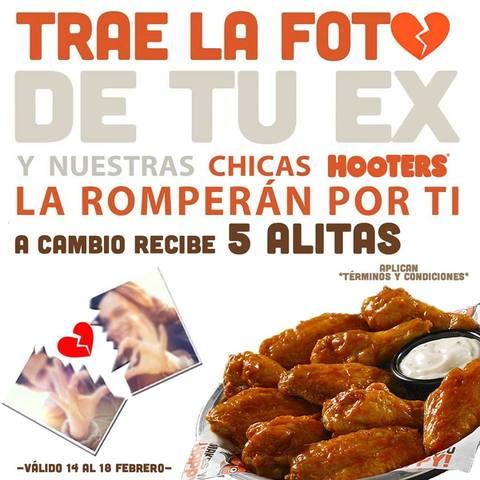 ROMPER LA FOTO DE TU EX Y COMER ALITAS