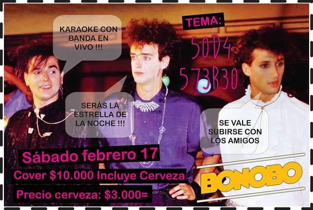 Karaoke con Banda en VIVO. Tema: Soda Stereo