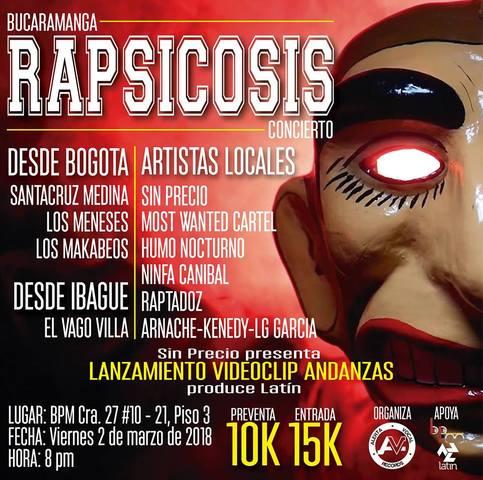 Concierto Rapsicosis en Bucaramanga