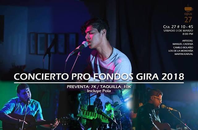 Concierto Pro fondo gira 2018
