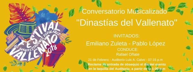 Conversatorios Dinastías del vallenato