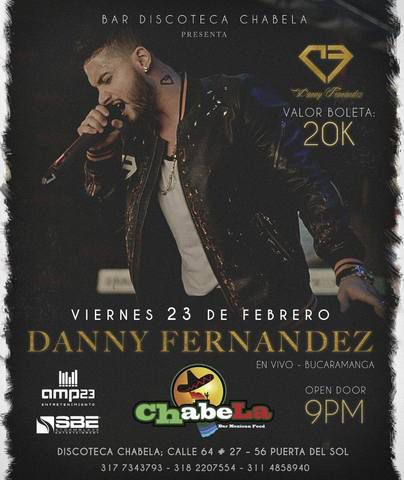 DANNY FERNANDEZ EN VIVO EN CHABELA CLUB