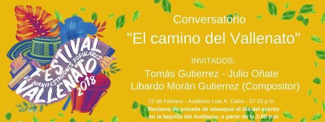 """Conversatorio """"El Camino del Vallenato"""" - FmpUIS2018"""