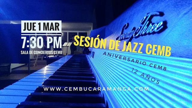 Sesión de jazz en el aniversario doce de CEMB