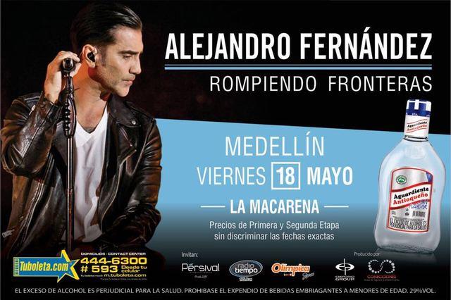 Alejandro Fernández en Medellín