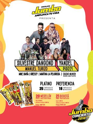 Jumbo Concierto Medellín 2018