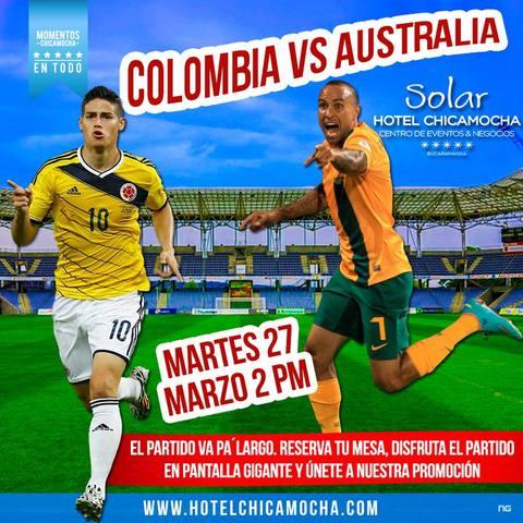 Disfruta del partido Colombia Vs Francia en el Hotel Chicamocha
