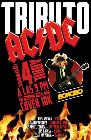 Tributo a AC/DC en Vivo! En Bonobo Rock And Roll Bar