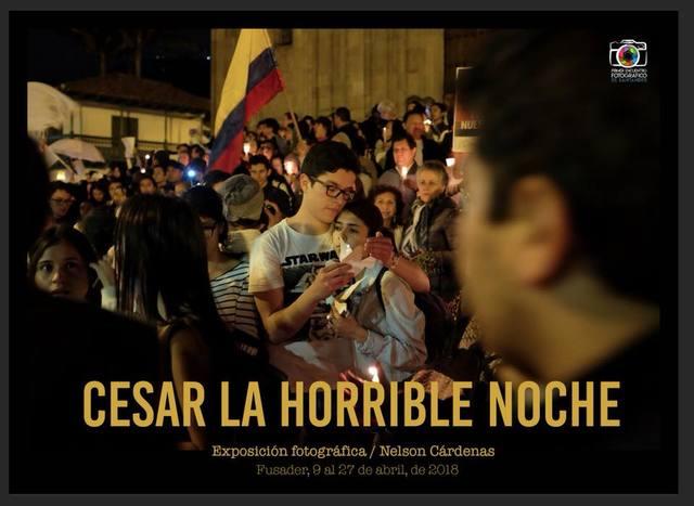Conversatorio Exposición Cesar la horrible noche