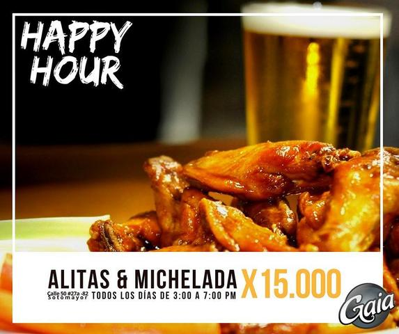Happy Hours: Alitas y micheladas en Gaia