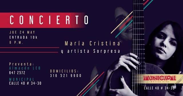 Concierto de María Cristina Plata en Municipal