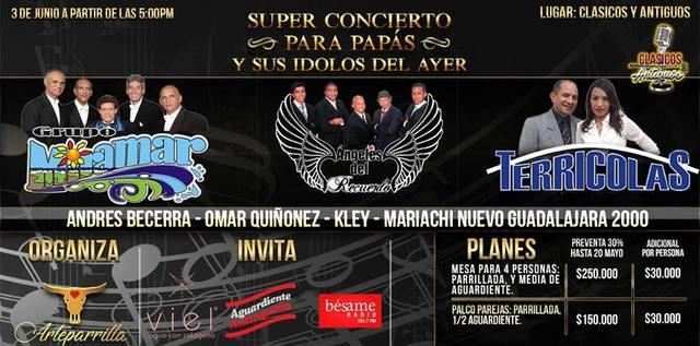 Super concierto para papás y sus ídolos del ayer