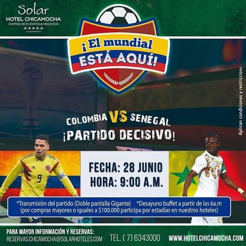 Disfruta del partido de la Selección en el Hotel Chicamocha