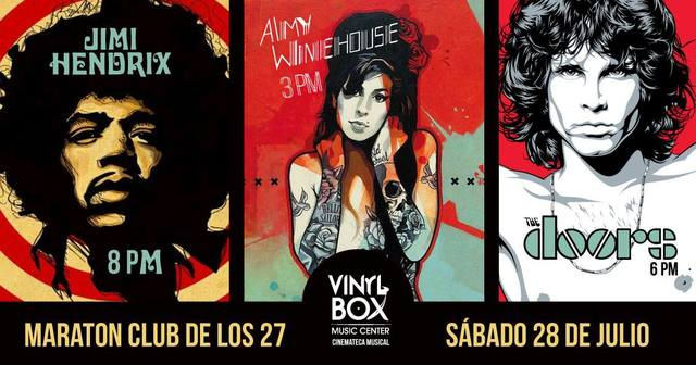 Tributo a Amy Winehouse, The Doors y Jimi Hendrix Live at Woodstock
