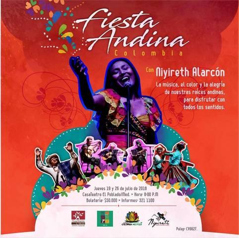 Niyireth Alarcón, Fiesta Andina. Colombia