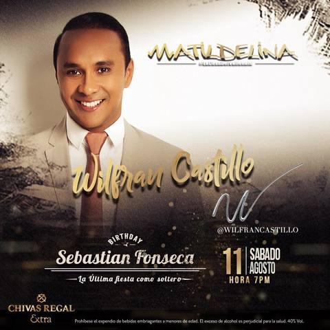 Wilfran Castillo en concierto