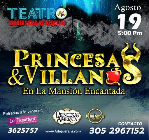 Princesas Y Villanos En La Mansión Encantada