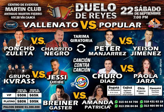 Vallenato vs Popular