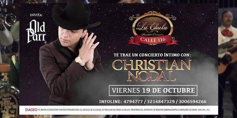Concierto de Christian Nodal en La Chula Bar.