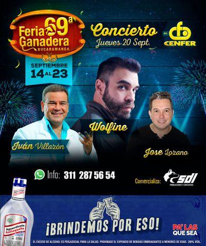 Feria Ganadera 2018 Jueves: Iván Villazón, Wolfine, José Lozano